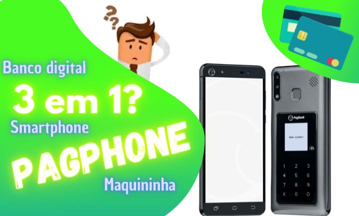 pagphone celular e maquininha junto